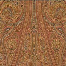 Rust/Gold/Green Paisley Decorator Fabric by Kravet
