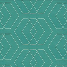 Turquoise Diamond Decorator Fabric by Kravet