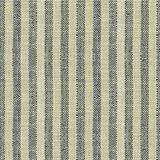 Dark Blue/Beige Stripes Decorator Fabric by Kravet