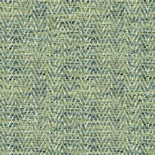 Turquoise/Beige Herringbone Decorator Fabric by Kravet