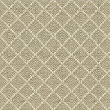 Beige/Ivory Diamond Decorator Fabric by Kravet