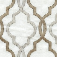 Silver/Gold/Ivory Lattice Decorator Fabric by Kravet