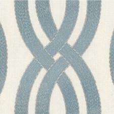 Light Blue/Beige Geometric Decorator Fabric by Kravet