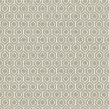 Beige/Ivory Geometric Decorator Fabric by Kravet