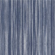 Dark Blue/White Stripes Decorator Fabric by Kravet