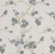 Blue/Beige Botanical Decorator Fabric by Kravet