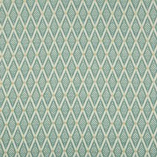Turquoise/White/Camel Diamond Decorator Fabric by Kravet