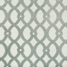 White/Light Grey Lattice Decorator Fabric by Kravet
