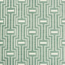 Teal/White Geometric Decorator Fabric by Kravet
