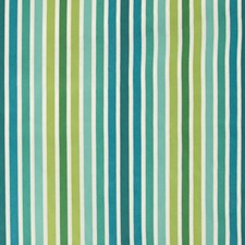 Blue/Emerald/Green Stripes Decorator Fabric by Kravet