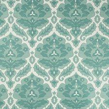 Teal/White Damask Decorator Fabric by Kravet