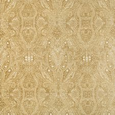 Beige/Gold Paisley Decorator Fabric by Kravet