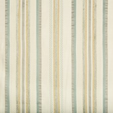 Ivory/Taupe/Teal Stripes Decorator Fabric by Kravet