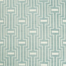 Spa/White/Teal Geometric Decorator Fabric by Kravet