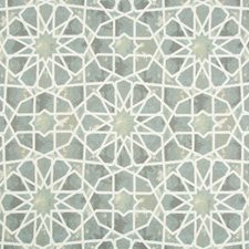 Blue/Grey/White Ethnic Decorator Fabric by Kravet