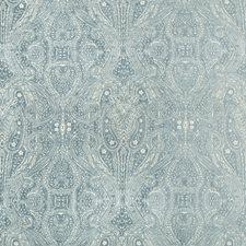 Light Blue/Beige Paisley Decorator Fabric by Kravet