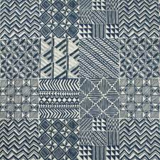 Indigo Geometric Decorator Fabric by Kravet