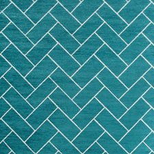 Turquoise/Ivory Modern Decorator Fabric by Kravet