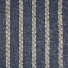 Indigo/White/Dark Blue Stripes Decorator Fabric by Kravet