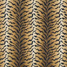 Indigo/Beige/Gold Texture Decorator Fabric by Kravet