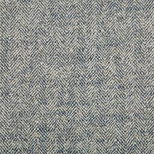 Indigo/White Herringbone Decorator Fabric by Kravet
