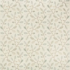 Ivory/Bronze/Turquoise Botanical Decorator Fabric by Kravet