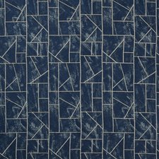 Indigo Geometric Decorator Fabric by Kravet