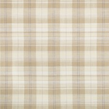 Beige/Grey/White Plaid Decorator Fabric by Kravet