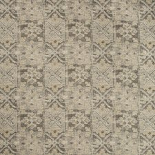 Grey/Gold/White Ethnic Decorator Fabric by Kravet