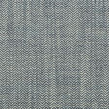 Light Grey/Blue Herringbone Decorator Fabric by Kravet