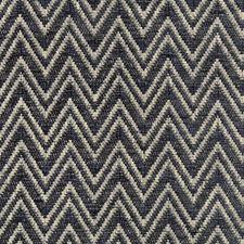 Dark Blue/Indigo Herringbone Decorator Fabric by Kravet