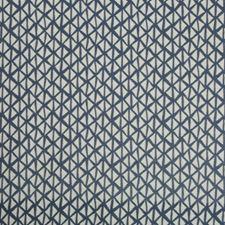 Indigo/Light Grey Geometric Decorator Fabric by Kravet