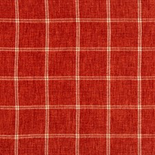 Red/White Plaid Decorator Fabric by Kravet