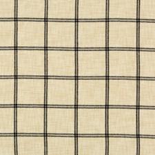Ivory/Black Plaid Decorator Fabric by Kravet