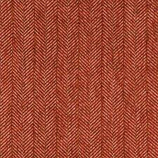 Red/Beige/Brown Herringbone Decorator Fabric by Kravet