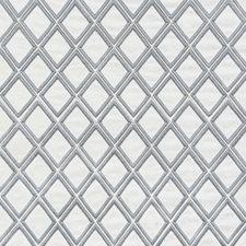 White/Grey Geometric Decorator Fabric by Kravet