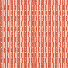 Coral/Orange Geometric Decorator Fabric by Kravet