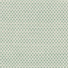 White/Turquoise/Blue Small Scale Decorator Fabric by Kravet