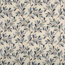 Beige/Blue Botanical Decorator Fabric by Kravet