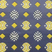 Blu Jacquard Decorator Fabric by Scalamandre