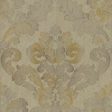 Beige/Yellow Damask Decorator Fabric by Kravet