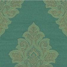 Verdigris Damask Decorator Fabric by Kravet