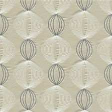 Greige Geometric Decorator Fabric by Kravet