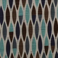 Blue/Brown Ethnic Decorator Fabric by Duralee