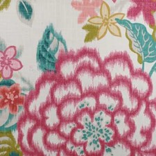 Red/Jade Floral Large Decorator Fabric by Duralee