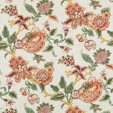 Papaya/Sage Botanical Decorator Fabric by Duralee