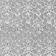 Platinum Floral Vine Decorator Fabric by Duralee