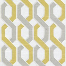 Yellow Abstract Decorator Fabric by Duralee
