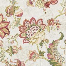 Papaya/Sage Floral Large Decorator Fabric by Duralee