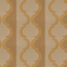 Gold Lattice Decorator Fabric by Trend